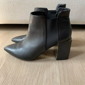 Black Zara Heeled Chelsea Boot Bootie 37 7